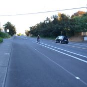 Repaving on E Burnside brings newly buffered bike lanes