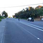 Repaving on E Burnside brings newly buffered bike lanes