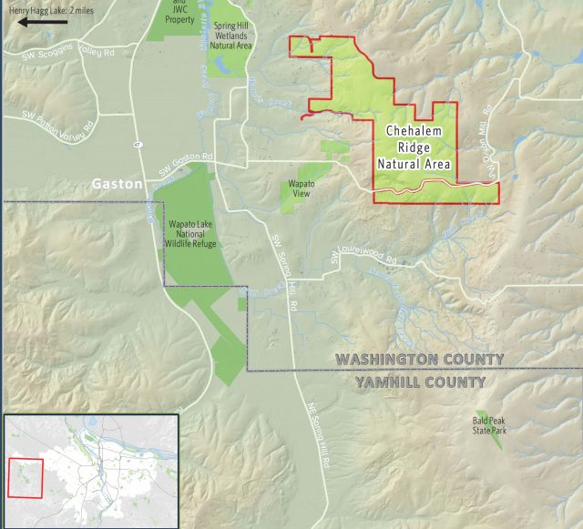 It's about three miles east of Hagg Lake, south of Forest Grove.(Map: Metro)