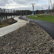 Dominoes keep falling for a continuous river path in South Waterfront