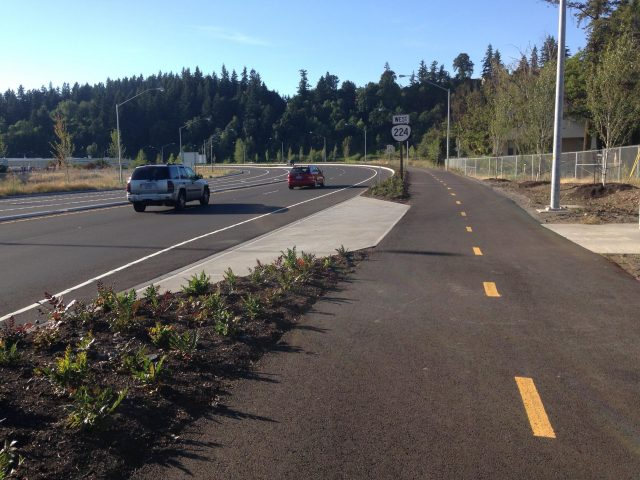 Part of the new bikeway built by ODOT as part of their Sunrise Corridor project. It opened on July 1st.(Photos: Adam Herstein)