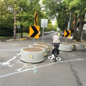 Two new traffic diverters installed on Ankeny and Mississippi