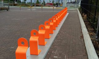 This is how a Biketown station should look when it's empty.(Photo: M Andersen/BikePortland)