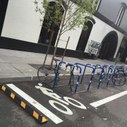 As promised, bike parking (and a lot of it) arrives at Pine Street Market