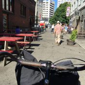 Ankeny Alley now has a promenade you can bike through