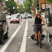 First Look: Portland's new protected bike lane on 2nd Avenue