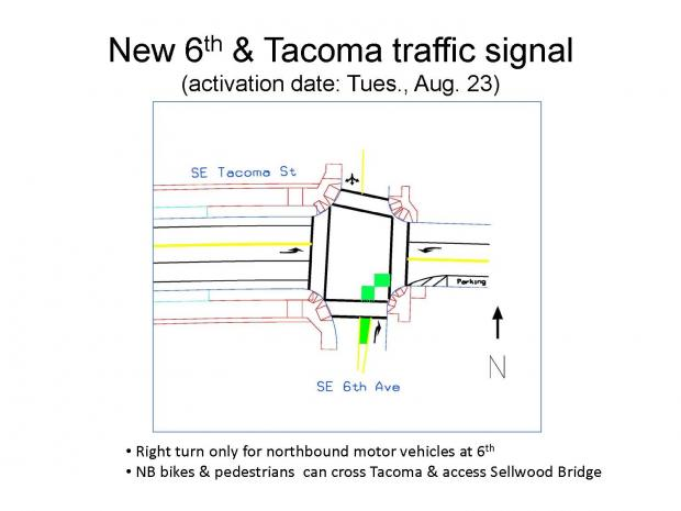 New 6th & Tacoma traffic signal