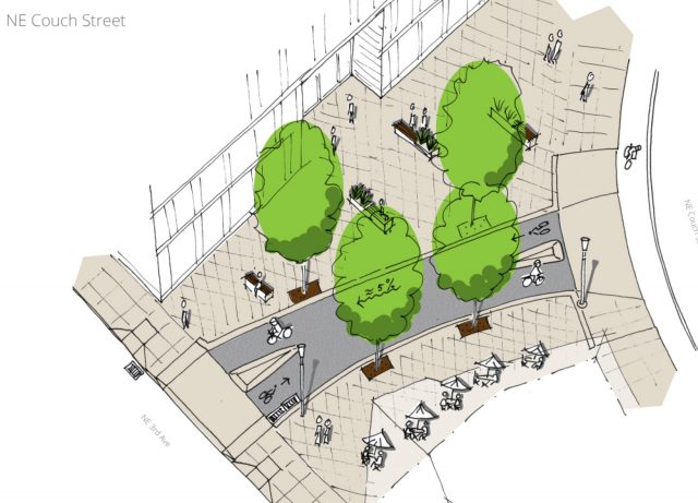 Couch Court looks like it will be a nice place to hang out.(Drawing courtesy City of Portland)