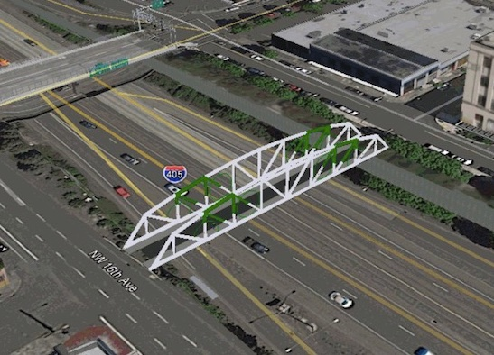 Artist rendering of new Flanders bridge.