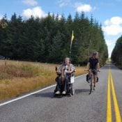 Ian Mackay is on a wheelchair tour to promote better paths and trails