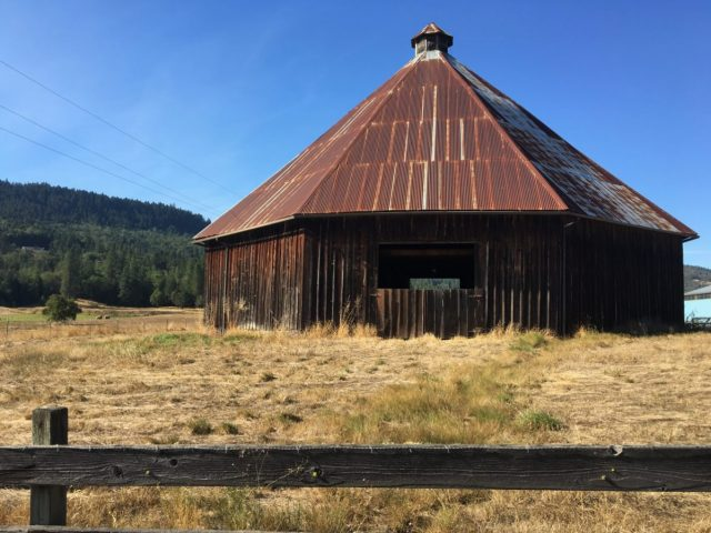 Historic James Wimer Barn in Lookingglass Valley. Built in 1892.