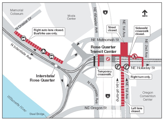 Click for full map that includes legend and additional closures.