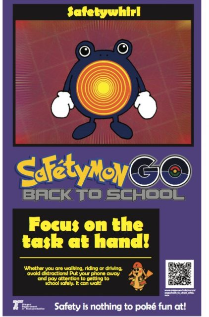 Safetywhirl is one of 11 characters created by ODOT to encourage road safety.