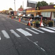 Memorial, guerrilla traffic calming on Hawthorne has unknown future