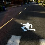 Ghost walker appears where man was hit crossing North Greeley