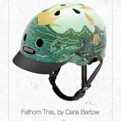 "Art on a helmet: Nutcase goes ""Unframed"""