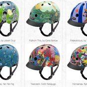 "Art on a helmet: Nutcase goes ""Unframed"""