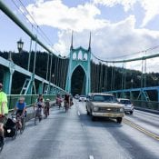 Collision on St Johns Bridge kills bicycle rider - Updated