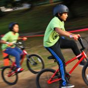 East Portland kids flock to 'Mountain Biking Day' at Ventura Park