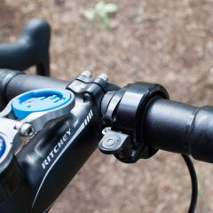 Black Knog Oi bell looks good next to a GoPro mount