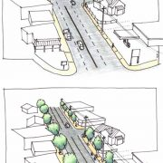 New PBOT design connects Foster bike lanes all the way to 52nd