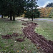 Work parties begin as trails take shape at Gateway Green bike park