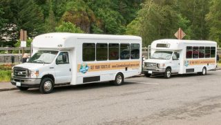 Half of the four-bus fleet.(Photo: ODOT)