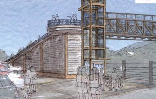 One of three options would include a ramp and an elevator.(Drawings: Port of Cascade Locks)