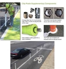 PBOT would use bollards that screw in-and-out of the roadway.(Images: PBOT)