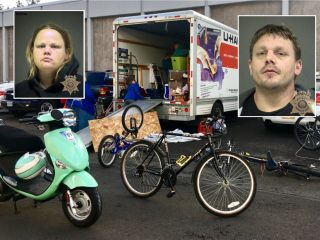 This duo was arrested on multiple charges.(Photos: Multnomah County Sheriff's Office)