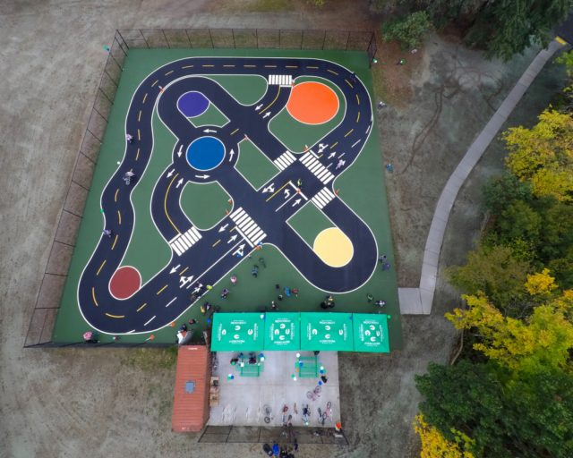 Aerial view of the new traffic garden in south Seattle.(Photos: King County Parks)