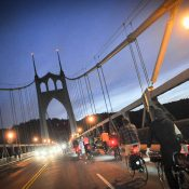 At protest ride, St. Johns Bridge carries weight of hundreds, and of recent tragedy