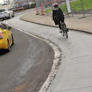 First look: New raised bikeway on Couch curve at Burnside bridgehead