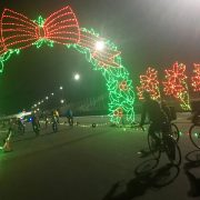 Hundreds of riders light the night at carfree Winter Wonderland event