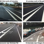 City of Portland boosts network with 5.6 miles of newly buffered bike lanes