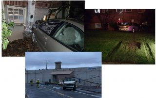 What happened this morning. Be thankful you weren't in that car, in that daycare or under that power pole. (Images: Portland Police, Tigard Police)