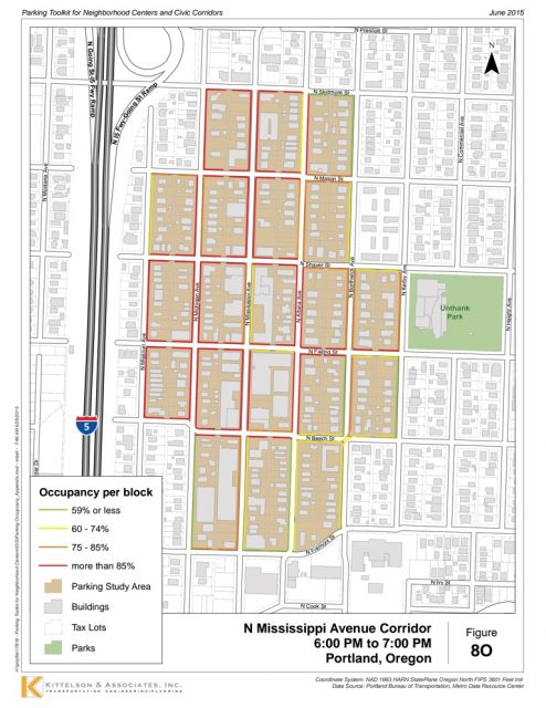 Example of a parking study (done by Kittelson & Associates, Inc.) for the Mississippi Ave area.