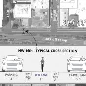 City will update NW 16th Ave with buffered bike lane