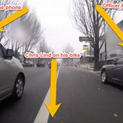After slapping a car, rider gets unexpected chat with Portland police officer