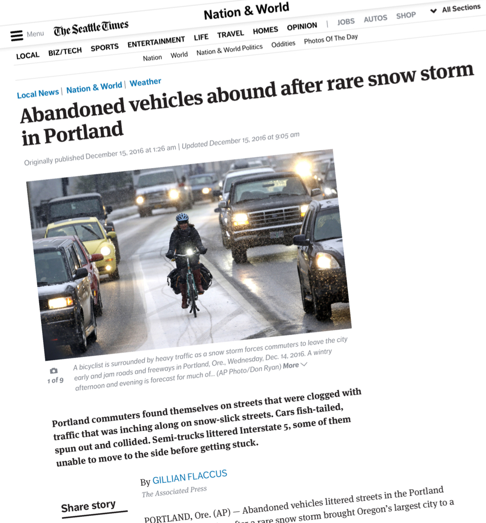 Don T Blame The Weather For This Mess Or Snow Plows Or Bad Drivers Or Bikeportland Org