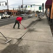 I helped sweep bike lanes this weekend (and it felt great)
