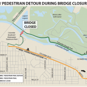 Route advisory: Columbia Slough Bike/Walk Bridge to close for up to 3 months