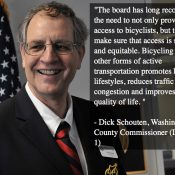 Washington County Board of Commissioners adopts policy preference for protected bikeways