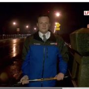 On live TV, reporter shovels gravel off St. Johns Bridge sidewalk – UPDATED