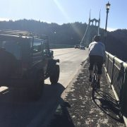 There's still a layer of gravel on the St. Johns Bridge sidewalk – UPDATED