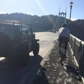 There's still a layer of gravel on the St. Johns Bridge sidewalk - UPDATED