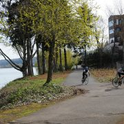 First look: The Willamette riverfront path that Tesla built