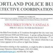 Police on the lookout for three suspects in Biketown vandalism case