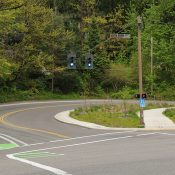 First look: The tiny (yet important) cycle-track on SW Terwilliger at Capitol Highway