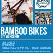 Bamboo bike building workshop coming to Portland this summer!